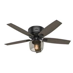 Bennett Matte Black 52-Inch One-Light LED Ceiling Fan