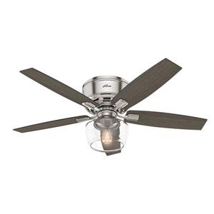 Bennett Brushed Nickel 52-Inch One-Light LED Ceiling Fan