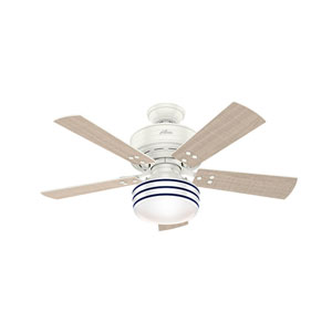 Cedar Key Fresh White 44-Inch One-Light LED Adjustable Ceiling Fan