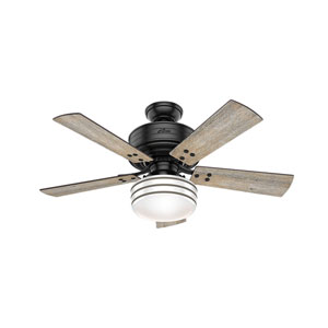 Cedar Key Matte Black 44-Inch One-Light LED Adjustable Ceiling Fan