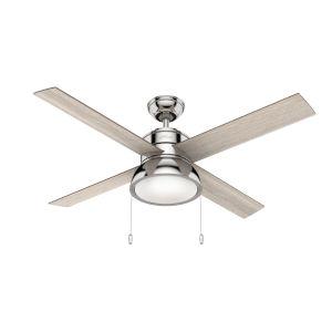 Loki Polished Nickel 52-Inch LED Ceiling Fan