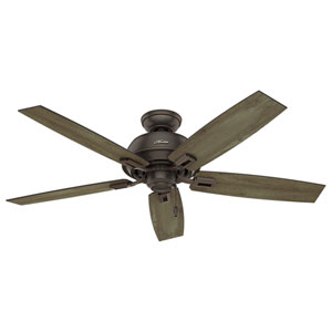 Donegan Onyx Bengal 52-Inch Adjustable Ceiling Fan