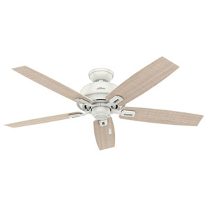 Donegan Fresh White 52-Inch Adjustable Ceiling Fan