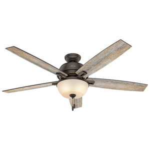 Donegan Onyx Bengal 60-Inch Two-Light LED Adjustable Ceiling Fan