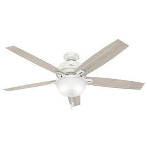 Donegan Fresh White 60-Inch Two-Light LED Adjustable Ceiling Fan