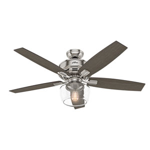 Bennett Brushed Nickel 52-Inch One-Light LED Adjustable Ceiling Fan