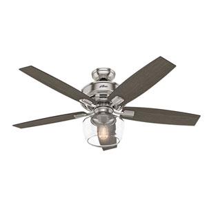 Bennett Brushed Nickel 52-Inch One-Light LED Adjustable Ceiling Fan