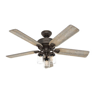Devon Park Onyx Bengal 52-Inch Three-Light LED Adjustable Ceiling Fan
