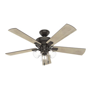 Crestfield Noble Bronze 52-Inch Three-Light LED Adjustable Ceiling Fan