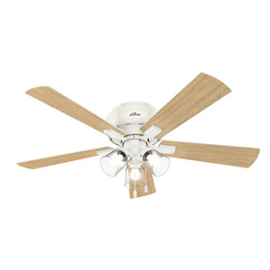 Crestfield Fresh White 52-Inch Three-Light LED Ceiling Fan
