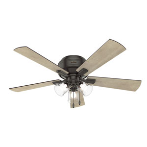 Crestfield Noble Bronze 52-Inch Three-Light LED Ceiling Fan