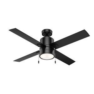 Beck Matte Black 52-Inch LED Ceiling Fan