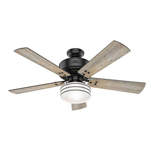 Cedar Key Matte Black 52-Inch One-Light LED Adjustable Ceiling Fan