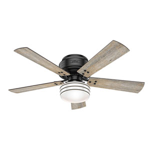 Cedar Key Matte Black 52-Inch One-Light LED Ceiling Fan