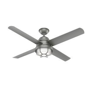 Searow Matte Silver 54-Inch Outdoor Two-Light LED Ceiling Fan