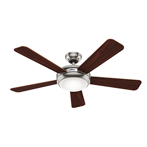Palermo Brushed Nickel 52-Inch Ceiling Fan