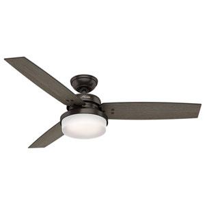 Sentinel Premier Bronze 52-Inch Two-Light LED Adjustable Ceiling Fan