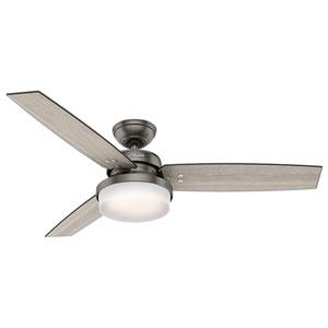 Sentinel Brushed Slate 52-Inch Two-Light LED Adjustable Ceiling Fan