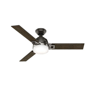 Leoni Noble Bronze and Brushed Nickel 48-Inch Two-Light LED Adjustable Ceiling Fan