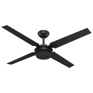 Chronicle Matte Black 54-Inch Adjustable Ceiling Fan