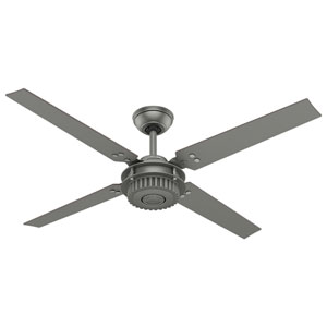 Chronicle Matte Silver 54-Inch Adjustable Ceiling Fan