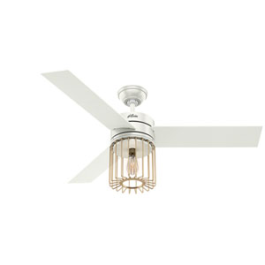 Ronan Fresh White 52-Inch One-Light LED Adjustable Ceiling Fan