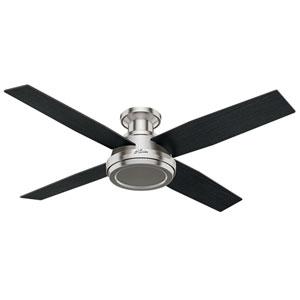 Dempsey Brushed Nickel 52-Inch Ceiling Fan