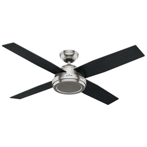 Dempsey Brushed Nickel 52-Inch Adjustable Ceiling Fan