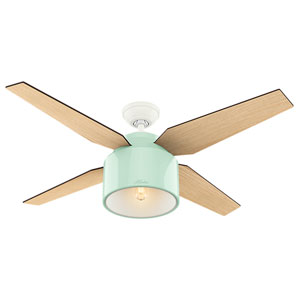 Cranbrook Mint 52-Inch One-Light LED Adjustable Ceiling Fan