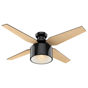 Cranbrook Gloss Black 52-Inch One-Light LED Ceiling Fan