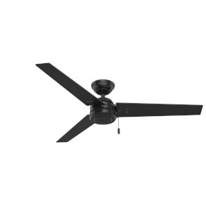 Cassius Matte Black 52-Inch Outdoor Ceiling Fan