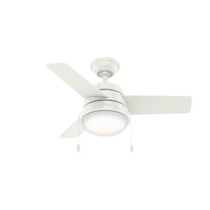 Aker Fresh White 36-Inch LED Ceiling Fan