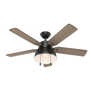 Mill Valley Matte Black 52-Inch One-Light LED Adjustable Ceiling Fan