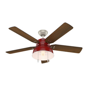 Mill Valley Barn Red 52-Inch One-Light LED Adjustable Ceiling Fan