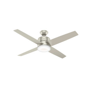 Advocate Matte Nickel 54-Inch DC Motor Smart LED Ceiling Fan