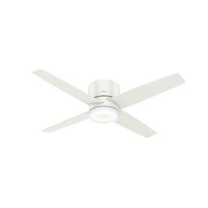 Advocate Low Profile Fresh White 54-Inch DC Motor Smart LED Ceiling Fan