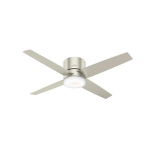 Advocate Low Profile Matte Nickel 54-Inch DC Motor Smart LED Ceiling Fan