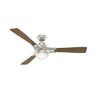 Signal Matte Nickel 54-Inch One-Light LED Adjustable Ceiling Fan