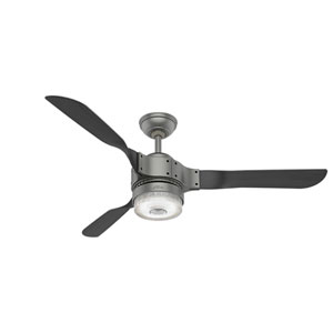 Apache Matte Silver 54-Inch One-Light LED Adjustable Ceiling Fan
