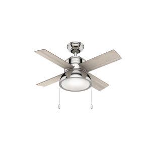 Loki Polished Nickel 36-Inch LED Ceiling Fan