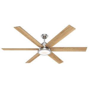 Warrant Brushed Nickel 70-Inch DC Motor LED Ceiling Fan