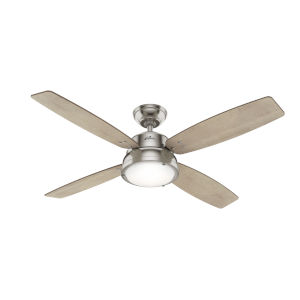 Wingate Brushed Nickel 52-Inch LED Ceiling Fan