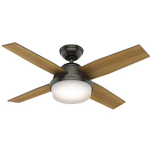 Dempsey Noble Bronze 44-Inch Two-Light LED Adjustable Ceiling Fan