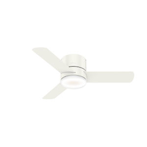Minimus Low Profile Fresh White 44-Inch LED Ceiling Fan