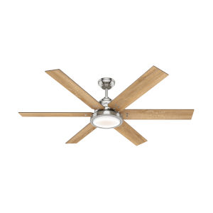 Warrant Brushed Nickel 60-Inch DC Motor LED Ceiling Fan