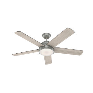 Romulus Matte Silver 54-Inch Smart LED Ceiling Fan