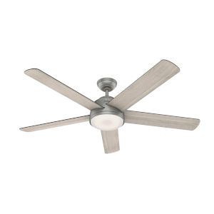 Romulus Matte Silver 60-Inch DC Motor Smart LED Ceiling Fan