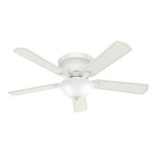 Chauncey Low Profile Fresh White 54-Inch DC Motor LED Ceiling Fan