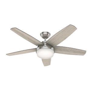 Avia II Brushed Nickel 52-Inch LED Ceiling Fan
