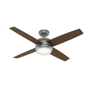Oceana Matte Silver 52-Inch Two-Light Ceiling Fans